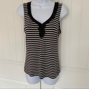 WHBM sleeveless striped top size small